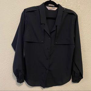 Vintage Diane VonFurstenbreg button up blouse boxy